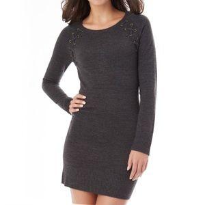 IZ BYER Long sleeve sweater fitted dress
